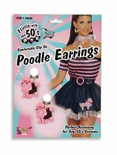 50's Pink Poodle Earrings 1950's Sock Hop  Costume Accessory