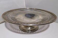 "BIRKS Sterling Silver Bread Dessert Tray Antique Vintage 8"" Round 315.8 Grams"