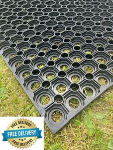 Heavy Duty Rubber Grass Mat Safety Flooring Playground Area 100x150x22mm