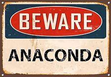 """""""Attenti Anaconda"""" Serpenti, metallo segno, Smalto, Vintage, no.798"""