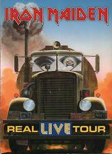 IRON MAIDEN 1993 REAL LIVE SPRING TOUR PROGRAM BOOK / BRUCE DICKINSON / VG 2 EX