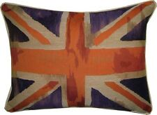 Union Jack Purple Flag Design #3 Oblong Woven Tapestry Cushion Cover