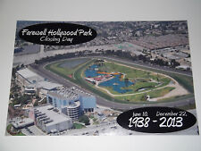 FAREWELL TO HOLLYWOOD PARK Racetrack Commemorative 12x18 2013 Closing Day Photo