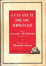 "Barbra Streisand (Debut) ""WHOLESALE"" Jerome Weidman 1962 First Edition Libretto"