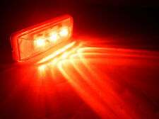 ONE-1x4 Inch Red LED Clearance Light Kit Trailer Truck with snap in bracket 2637