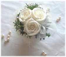 Tischdeko I Tischdekoration Hochzeit, Taufe, Kommunion, Tischgesteck weiß-creme