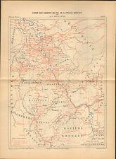 ALLEMAGNE (D) CARTE DES CHEMINS DE FER DE LA PRUSSE RHENANE 1888