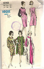 Vogue Sewing Pattern 6148, Vintage Dress, Coat Dress from 1964, Size 14, Unused
