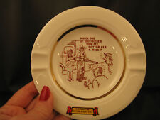 Vintage Ash Tray Naughty Risque Farmer Shotgun Daughter with Baby Truckers