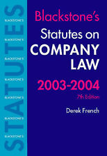 BLACKSTONE'S STATUES ON COMPANY LAW 2002-2003., French, Derek (edit)., Used; Lik