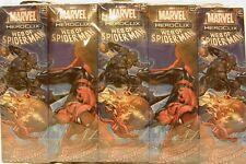 HeroClix sealed Brick ~ WEB OF SPIDER-MAN ~ Marvel 5 figure Booster pack x 10