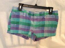 EUC Hurley Women's Juniors Chino Short Shorts  Size JR 11 Color Multi