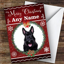 Scottish Terrier Dog Traditional Animal Personalised Christmas Card