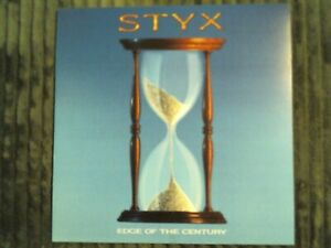 1990 STYX EDGE OF THE CENTURY ALBUM FLAT DOUBLE SIDED PROMO DISPLAY POSTER