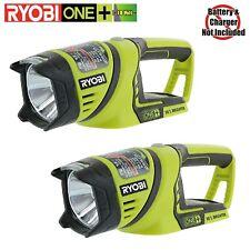 2x RYOBI P704 ONE+ 18V 18-Volt ONE+ Area LIGHT SWIVEL HEAD WORK-LIGHT FLASHLIGHT