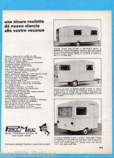 QUATTROR966-PUBBLICITA'/ADVERTISING-1966- ROLL MEC - ROULOTTE