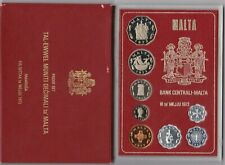 More details for cased 1972 malta 8 coin proof set in near mint condition.
