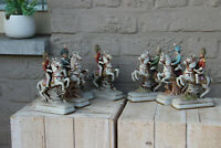 SET 7 NApoleon officer soldier on horse Figurines statues