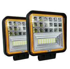 2 Pcs 600W 6000K LED Work Light Bar Flood Spot Beam Offroad 4WD SUV Driving Lamp