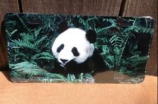 Panda Bear Novelty License Plate Bar Wall Decor