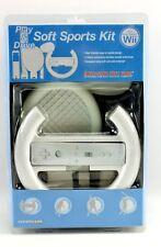 Nintendo Wii Soft Sports Controller Accessory Kit Racing Tennis Baseball Golf