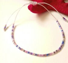 Mix Lilacs Lucky Beads With Light Pink Cord Bracelet