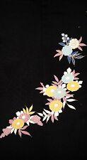 Vintage Japanese Silk Kimono Tomesode Fabric Panel Quilting Patchwork #180