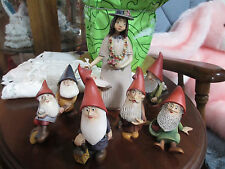 "Lepi ""Snow White And The Seven Dwarfs"" Hand Carved Wood Kh"