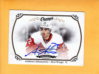2015 16 UPPER DECK CHAMPS ROOKIE AUTO #159 ANDREAS ATHANASIOU DETROIT RED WINGS