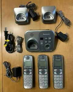 Panasonic (KX-TG294SK) - Cordless Phone and Answering Machine - 3 Handset System