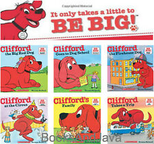CLIFFORD the Big Red Dog Bedtime Box Set (pb) School,Circus,Family,Firehouse 6Bk