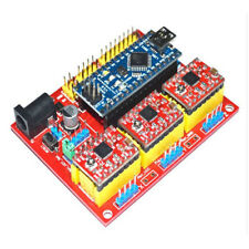 CNC Shield V4 Expansion Board With Nano & 3Pcs Red A4988 For 3D Printer