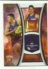 2018 select LEGACY ALL AUSTRALIAN BRISBANE LIONS DAYNE ZORKO AA12 CARD AFL
