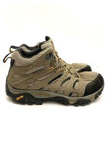 Merrell Moab Mid Gore Tex XCR Hiking Winter Boots Dark Tan J87311W Men's 9.5