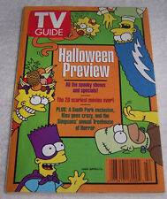 SIMPSONS ~ 1998 HALLOWEEN PREVIEW TV GUIDE ISSUE ~ SOUTH PARK ~ KISS -NEW COND.