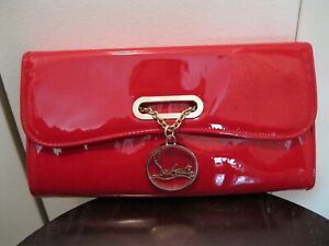 Christian Louboutin Riviera Patent Leather Clutch - New With Tags