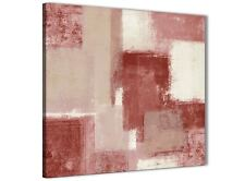 Red and Cream Bathroom Canvas Wall Art Accessories - Abstract 1s370s - 49cm
