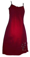 AZTEC ROSE Womens Dress Straight Red Strappy Stretch Sz S FREE PRIORITY POST