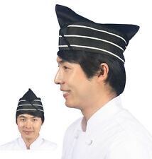 sushi chef hat restaurant bar uniform clothing Japanese women men size catering