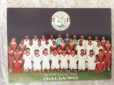 CARTOLINA NAZIONALE CALCIO MONDIALI ITALIA '90 EMIRATI ARABI UNITI U.A.E.