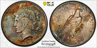 1926-S $1 Peace Dollar PCGS MS63 - AWESOME COLORFUL RAINBOW TONING - UPGRADE?