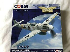 CORGI AVIATION ARCHIVE MESSERSCHMITT BF109G 6 Erich Hartmann 1/JG53 1945 AA27101