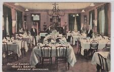 VINTAGE POSTCARD F.W.NIVEN  HOTEL DANIELL DINING ROOM  BRISBANE  1900s