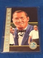 Sid Gillman 1998 Hall Of Fame Platinum Signature Series Autograph Card HOF /2500