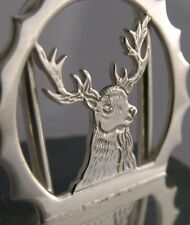 ENGLISH Solid Sterling Silver Stag/Cervo Caccia Menu Holder 1996