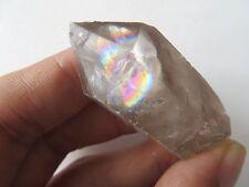 A Rare Natural Tibet  Clear Quartz Crystal Specimens W  Rainbows 6g