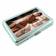 Farmers Daughter Pin Up Girls D5 Silver Metal Cigarette Case RFID Protection
