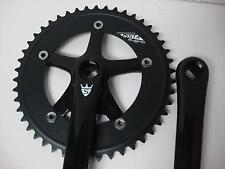 Single Speed FIXIE Bike Bicycle Fixed ROAD GEAR CRANK SET 165mm Black