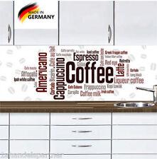 Küchennischen Deko SET Wand Küchen Spritzschutz Wandschutz Art of Coffee 48 Neu