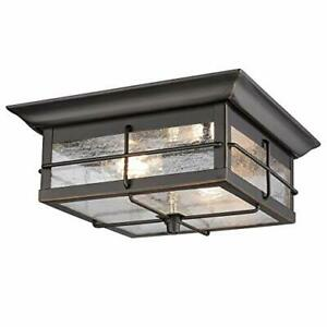 Westinghouse Lighting 6578400 Orwell Traditional Two Flush Mount Outdoor Ceil...